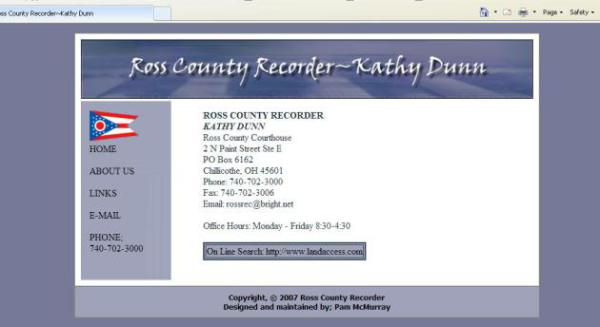Ross County recorder