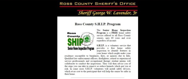 Ross County SHIP Program, pamelajjames, webdesigner, pamelajjames.com,